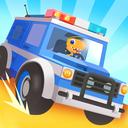 Dinosaur Police Car - Police Chase Games for Kids