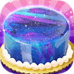 Galaxy Mirror Glaze Cake - Sweet Desserts Maker