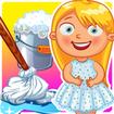بازی تمیز کردن خانه ی صورتی
