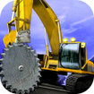 Up Hill Crane Cutter Excavator