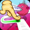 Follow the Line Monster Run: Finger Race 2D Deluxe