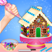 Ginger Bread House Cake Girls Cooking Game