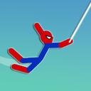 Super Hero Hook: Stickman Rope Swing
