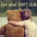 Fur and felty doll