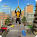 Flying Hero Crime City Battle
