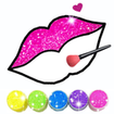 Glitter Lips with Makeup Brush Set coloring Game