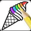 Glitter Ice Cream Coloring
