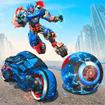 Ball Robot Transform Bike War : Robot Games