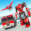 Robot Fire Fighter Rescue Truck