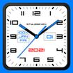 Square Analog Clock-7