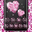 Pink Heart Diamond Theme Launcher