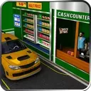 Drive Thru Supermarket: Shopping Mall Car Driving