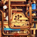 Cool Wallpapers and Keyboard - Steampunk Pipes