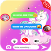 talk with unicorn call and fake Chat PRANK