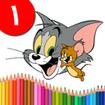 کتاب رنگ آمیزی - تام و جري ۱