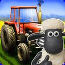 Riding a tractor Shaun the Sheep