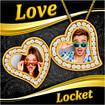 Love Locket Photo Frames : Couple Locket