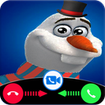 snowman video call and chat simulation game