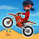 دختر کفشدوزکی موتورسوار
