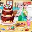 کیک پزی السا و انا