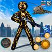 Amazing Neon Iron Stickman Rope Hero Gangstar City