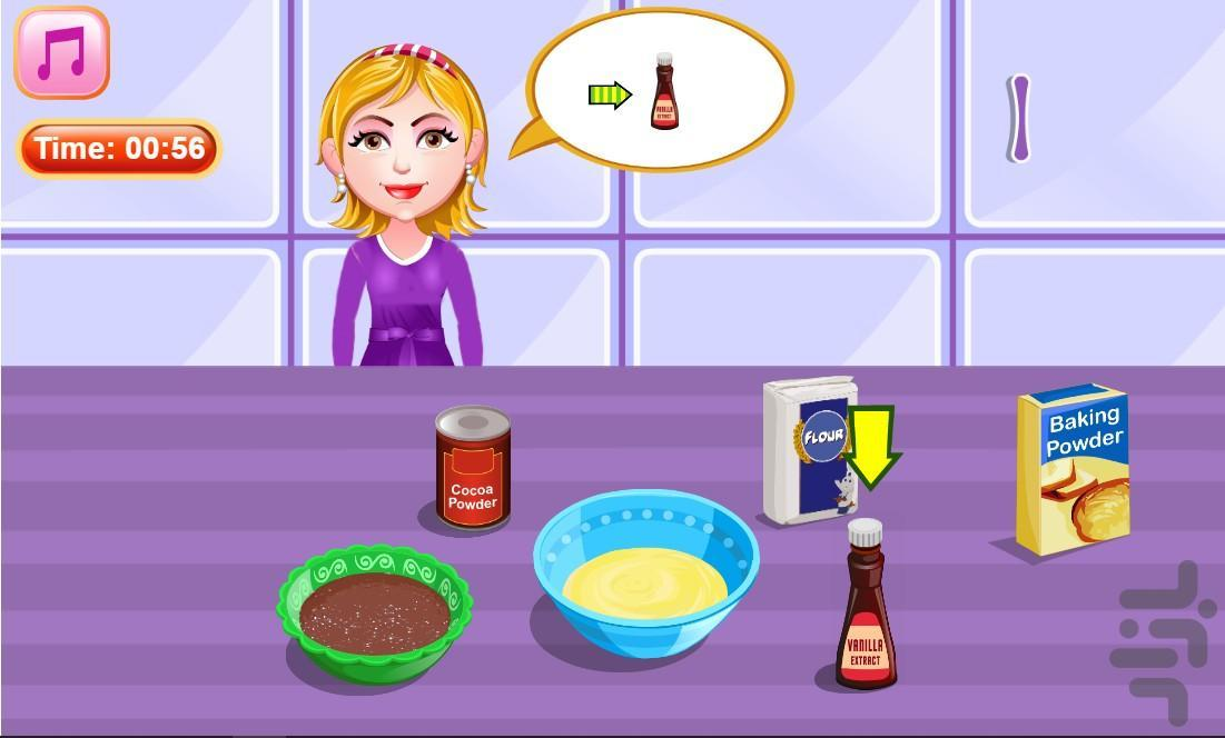 آشپزی پخت کیک شکلاتی - عکس برنامه موبایلی اندروید