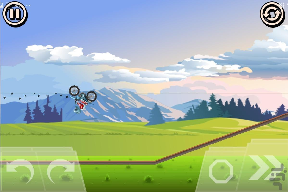 موتورسواری روی طناب - عکس بازی موبایلی اندروید