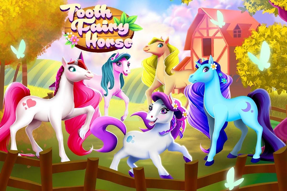 Tooth Fairy Horse – مراقبت از اسبهای مزرعه - عکس بازی موبایلی اندروید