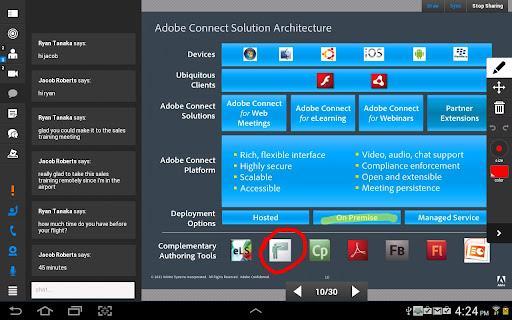 Adobe Connect - عکس برنامه موبایلی اندروید