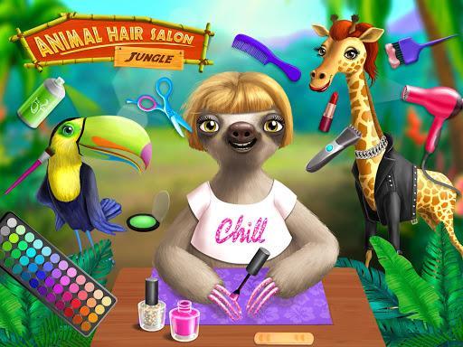 Jungle Animal Hair Salon - Styling Game for Kids - عکس بازی موبایلی اندروید