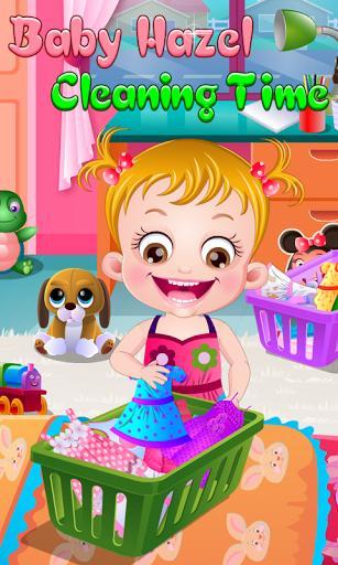 زمان تمیزکاری هیزل کوچولو - عکس بازی موبایلی اندروید