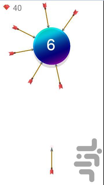 پرتاب تیر - عکس بازی موبایلی اندروید