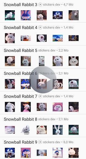 Snowball Rabbit Stickers Animated WAStickerApps – استیکر واتساپ خرگوش - عکس برنامه موبایلی اندروید