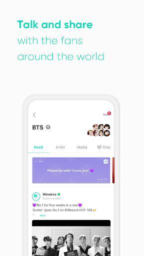 Weverse – شبکهی اجتماعی ویورس - عکس برنامه موبایلی اندروید