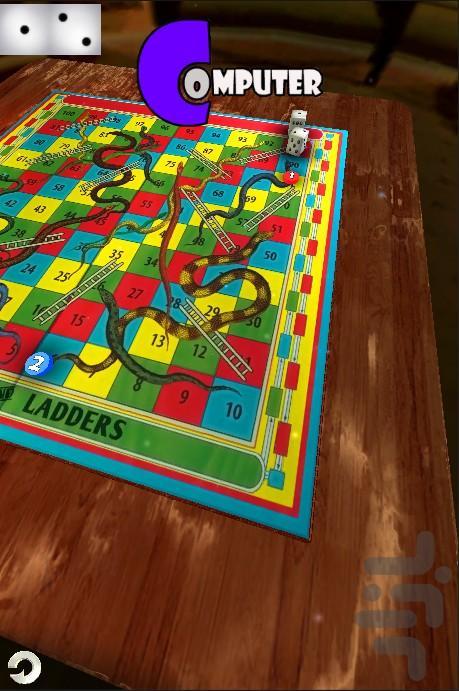 Snake & Ladder 3D : Anaconda - Gameplay image of android game