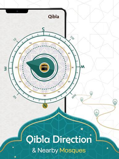 Prayer Now: Azan Prayer Time, Azkar,Qibla ,Quran - عکس برنامه موبایلی اندروید