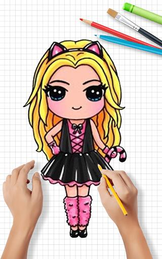How to Draw Cute Girls | Drawing Girl Step by Step - عکس برنامه موبایلی اندروید