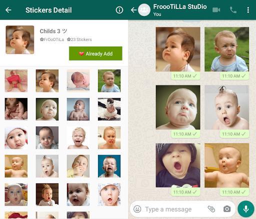 👶🏻WAStickerApp - Cute & Funny Babies - عکس برنامه موبایلی اندروید