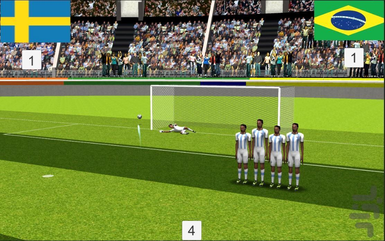 ضربه ایستگاهی فوتبال با گزارش فارسی - عکس بازی موبایلی اندروید