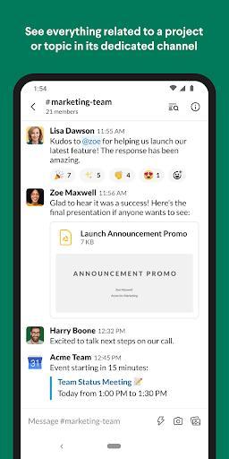 Slack - Image screenshot of android app