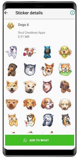 WAStickerApps Dog memes 🐶 Dog sticker 2020 - عکس برنامه موبایلی اندروید