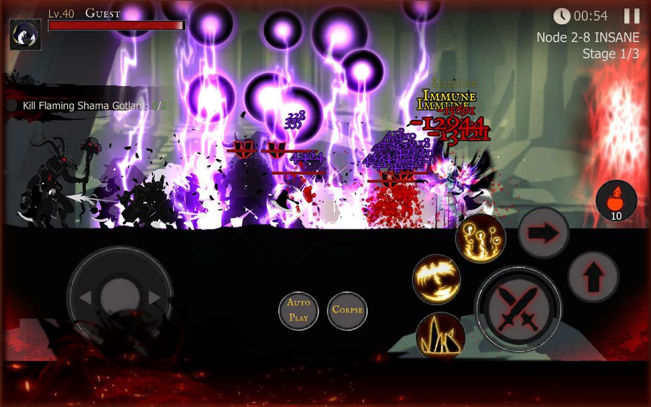 Shadow of Death: Dark Knight - سایه مرگ - عکس بازی موبایلی اندروید