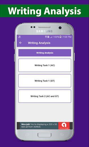 IELTS Writing 2021 - عکس برنامه موبایلی اندروید
