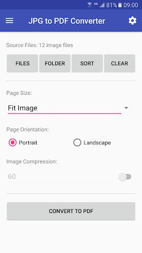 JPG to PDF Converter – تبدیل عکس به PDF - عکس برنامه موبایلی اندروید