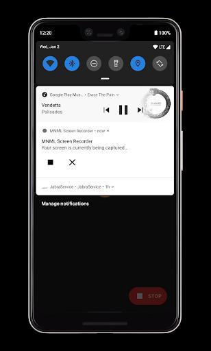 MNML Screen Recorder - عکس برنامه موبایلی اندروید