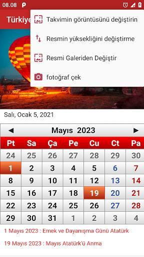Türkiye Takvimi 2021 - عکس برنامه موبایلی اندروید