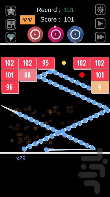 آجر هارو با قدرت بشکن - عکس بازی موبایلی اندروید