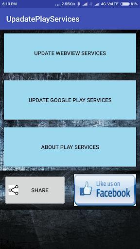 UpdatePlayServices - عکس برنامه موبایلی اندروید