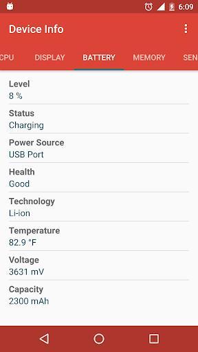 Device Info - عکس برنامه موبایلی اندروید