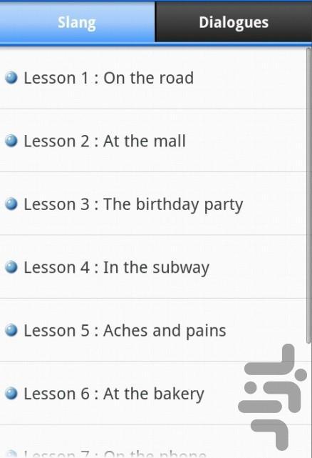 اصطلاحات عامیانه زبان انگلیسی 2 - عکس برنامه موبایلی اندروید